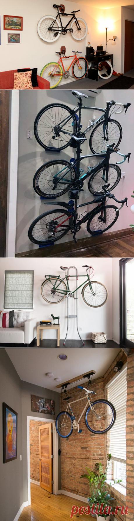 Где хранить велосипед в квартире: 10 отличных идей   Новости моды