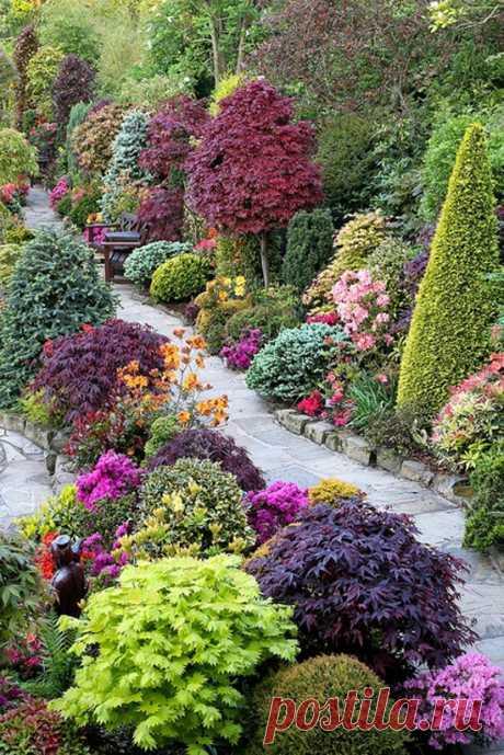El escándalo de los tintes. El jardín de cuatro temporadas. Inglaterra