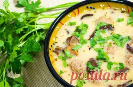Суп, которому нет цены: Ячменно-грибной суп с фрикадельками