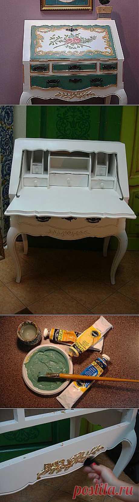Деревенское бюро в стиле рококо | Самоделкино