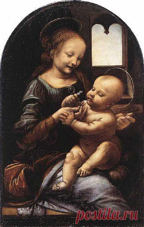 Где дух не водит рукой художника, там нет искусства.Картина Мадонна с цветком (Мадонна Бенуа). 1478
