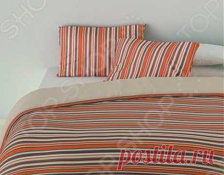 С этим постельным бельем ваша спальня приобретет европейский дизайн. Сделано из 100% хлопка, очень приятное на ощупь и долговечное. Представлено в 3 стильных цветах - оранжевом, голубом и фиолетовом.