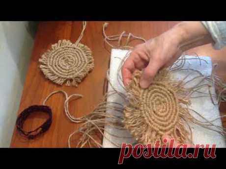 (1) Плетение салфеточки по кругу. Шаг 7 - YouTube