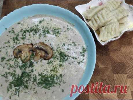 Грибной крем - суп + картофельные ньокки!