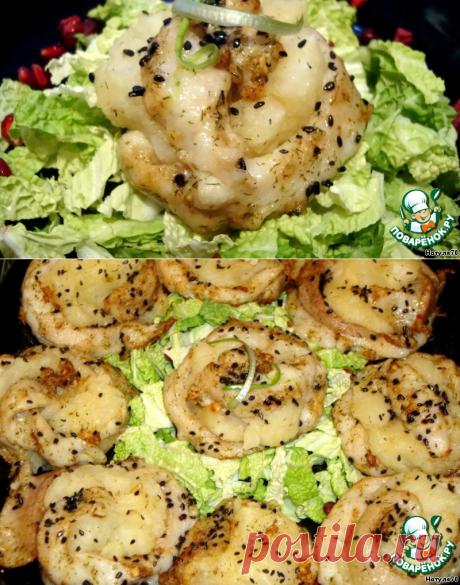 Рыбные розочки с картофелем - кулинарный рецепт