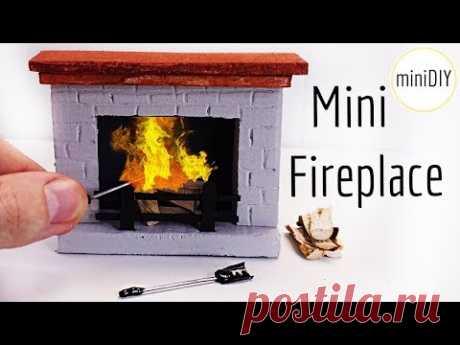 DIY Miniature Fireplace tutorial   DollHouse   miniDIY