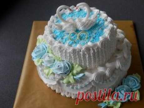торт с лебедями на серебряную свадьбу