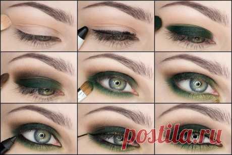 Наиболее популярные варианты макияжа для зелёных глаз — Модно / Nemodno