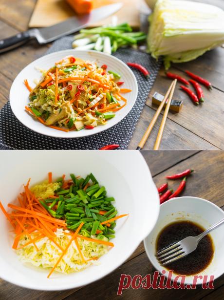 Лёгкий азиатский салат для летнего удовольствия