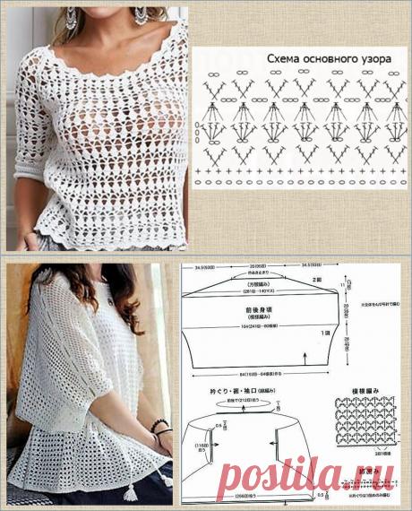 12 белых кофточек - модели со схемами - вязание крючком - для ваших копилочек   МНЕ ИНТЕРЕСНО   Яндекс Дзен