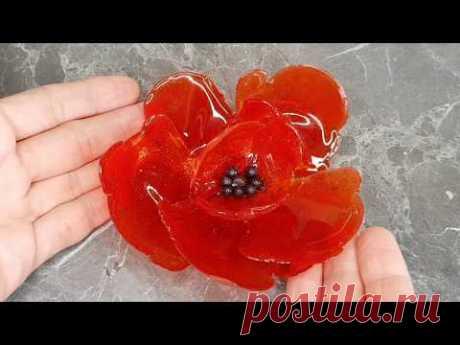 Проще простого Карамельный цветок Мак Рецепт карамели