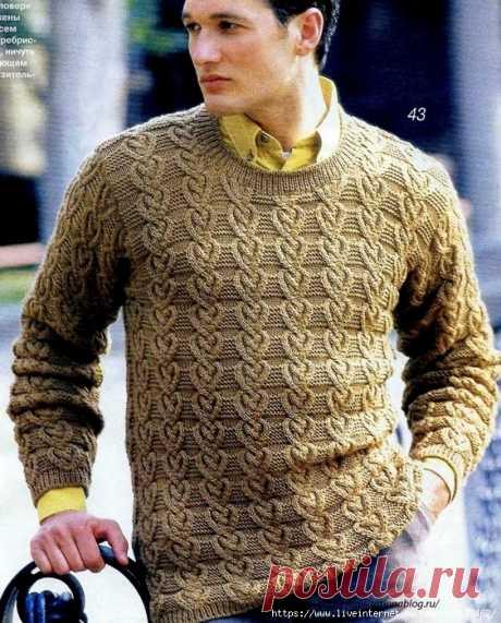 Man's pullover spokes