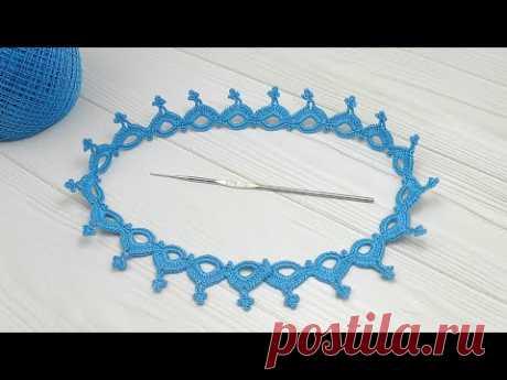 ЛЕНТОЧНОЕ КРУЖЕВО вязание крючком КАЙМА для ирландского вязания Easy to Crochet Lace Ribbon