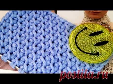 Вяжем эффектный фоновый узор спицами 🍓 knitting pattern.