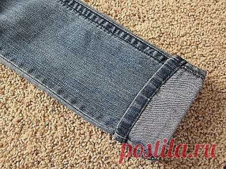 Подшиваем джинсы с сохранением фабричного шва. Мастер-класс.