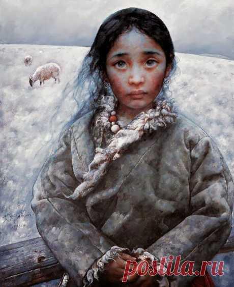 Портреты, которые смотрят прямо в душу | Китайский художник Ай Сюань