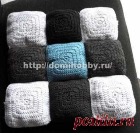 Подушка - сидушка крючком