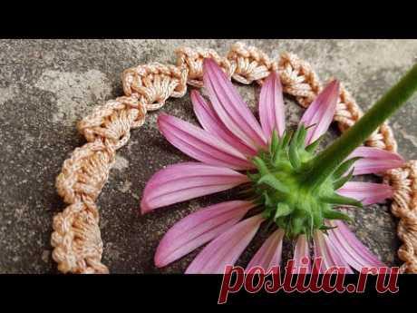 Красивый набор петель крючком 🧚🏽♀️ crochet pattern  🤷♀️  или декоративная тесьма.