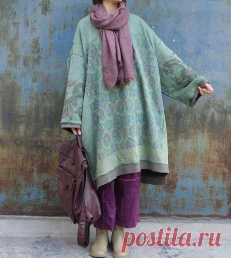 Women Dress Cotton green midi dress plus size dress round   Etsy
