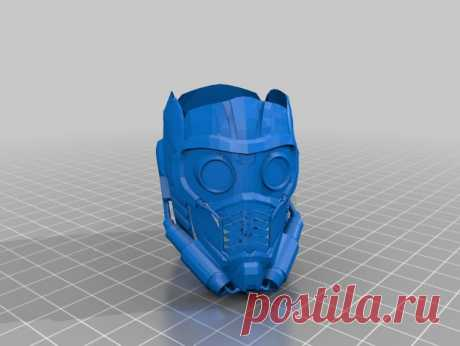"""StarLord Helmet by Jace1969 An old file from my Pepakura making days that I discovered in Pepakura Designer you can export to .OBJ and in """"Windows 10 3DBuilder or 123Design"""" export to .STL. Unfortunately I don't have the skills yet to improve further on the model, but maybe someone out there would like to tidy it up. Please upload it back as a remix if you do take the time to clean it up. Please note this was originally uploaded to the net as a free down load. So I cant ta..."""