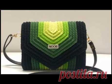 quarantine crochet bag use wool scraps
