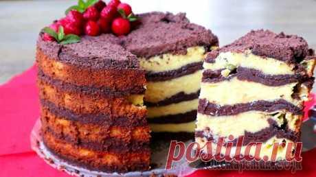 Творожный торт Лентяй. Даже не верится, что все так просто готовится!