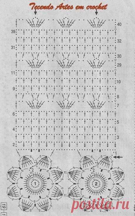 Подборка схем вязания штор и занавесок крючком