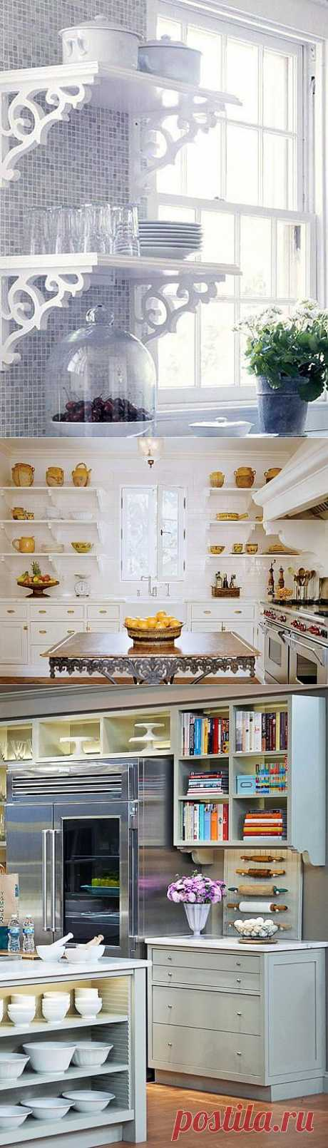 Такие разные, но милые: открытые полки на кухне | Наш уютный дом