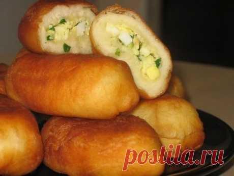 Жареные пирожки с зеленым луком и яйцом | Вкусно приготовим