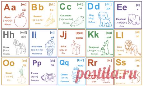 Распечатать алфавит английского языка