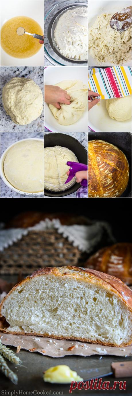 Рецепт деревенского хлеба (на ночь) - просто домашнее приготовление