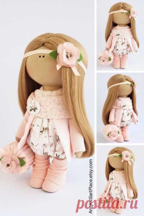 Fabric Doll Decor Doll Interior Doll Nursery Doll Handmade | Etsy