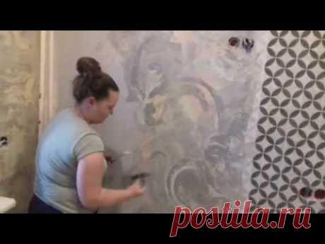 Master class: Venetian plaster. Budgetary option!