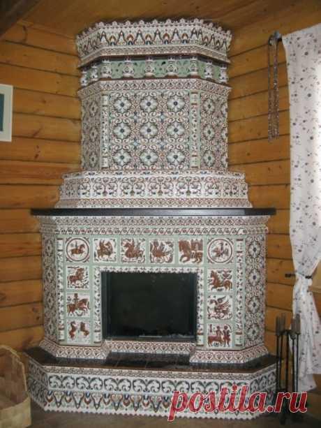 Изразцовая печь-камин: вдохновляющие идеи для творчества