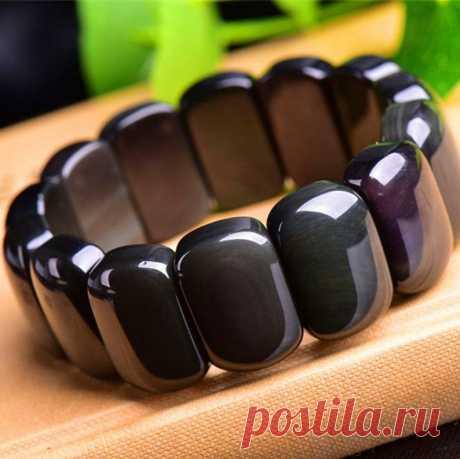 Obsidian Men's Bracelet / Gem Bracelet / Meditation | Etsy
