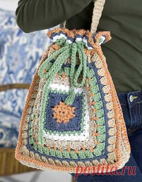 Интересные сумочки. Вязание крючком. 3 часть. | Марусино рукоделие | Яндекс Дзен