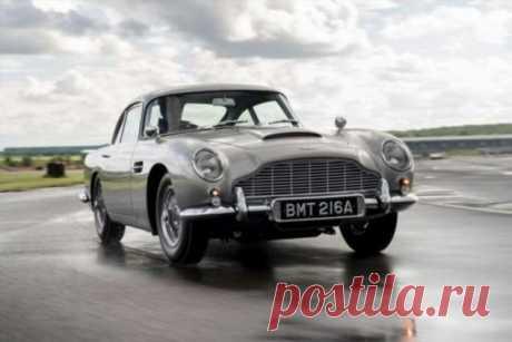 Aston Martin выпустил шпионскую версию DB5 . Тут забавно !!!