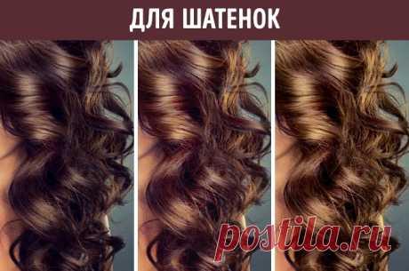 3 средства для красивого цвета волос без использования химии