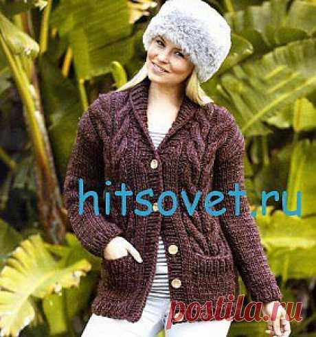 Вязание жакета с косами | Хитсовет