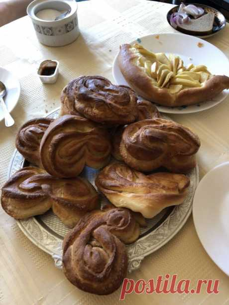 Булочки-сердечки с сахаром - пошаговый рецепт с фото на Повар.ру