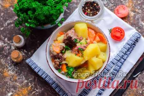 Картошка с тушенкой в кастрюле, рецепт с фото пошагово