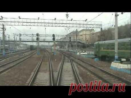 От Киевского вокзала до ст. Малоярославец в кабине ЭД4М - YouTube