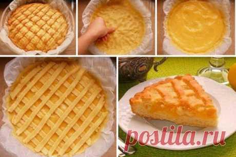 Песочный лимонный пирог | Моя любимая выпечка