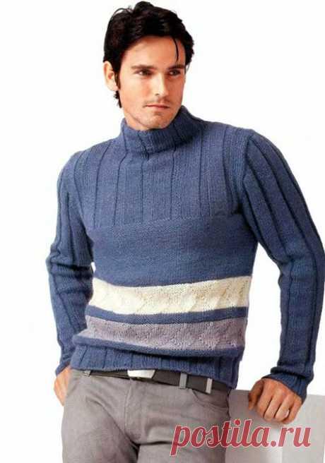 Мужская водолазка спицами – 5 моделей со схемами и описанием вязания, видео МК — Пошивчик одежды