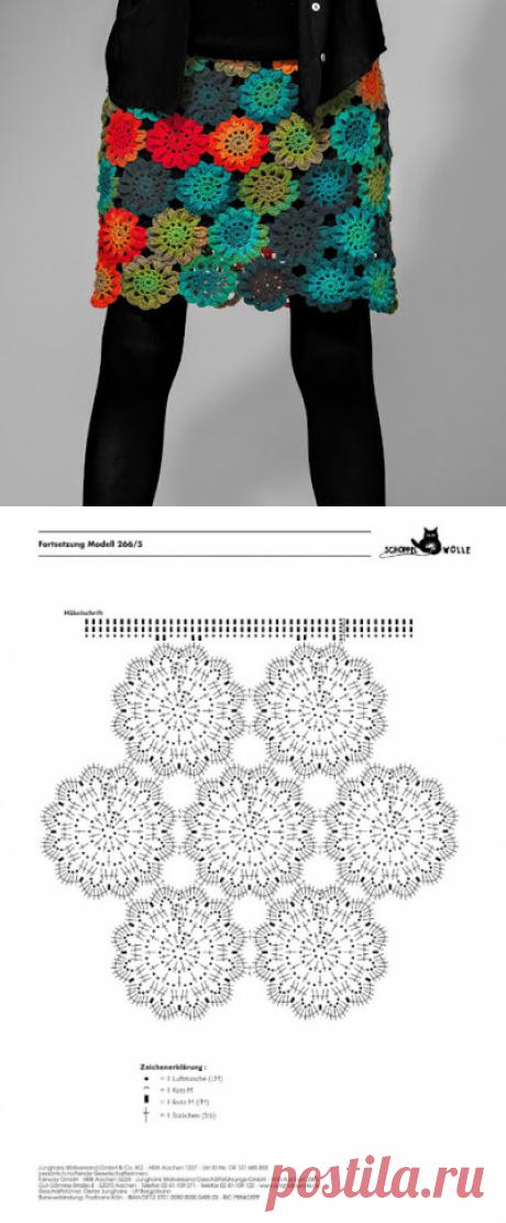 Irish crochet &: CROCHET SKIRT ... ЮБКА