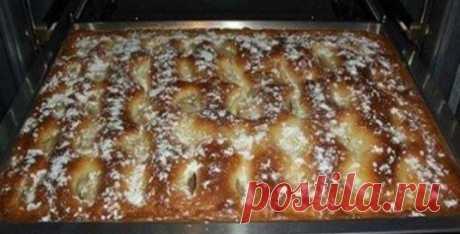 Пирог с яблоками, как пирожное...