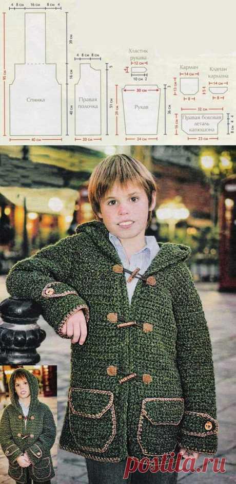 Пальто - Детские пальто крючком
