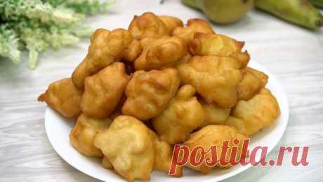 Яблочные пончики: трачу 15 минут (перемешиваю все ложкой и на сковороду) Делюсь рецептом | Готовим с Калниной Натальей | Яндекс Дзен