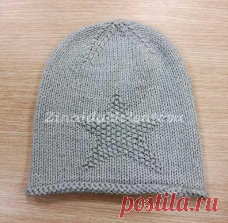 Вяжем вместе: Детская шапка с теневым узором