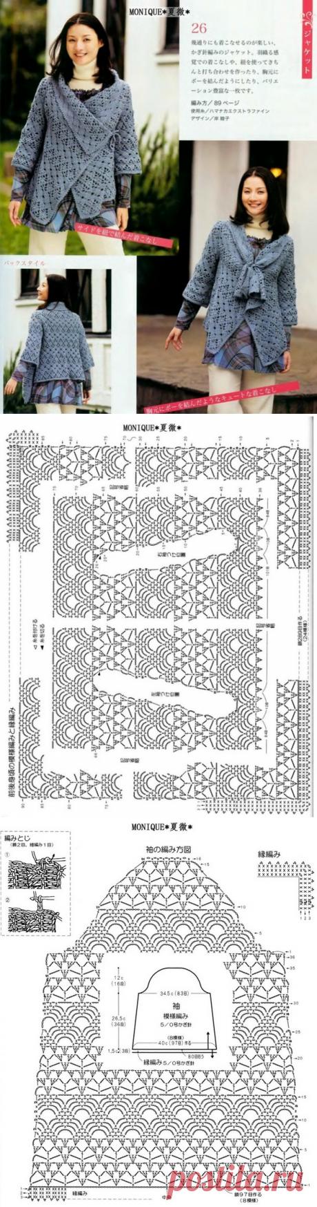Вязание жакета крючком